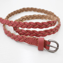 Free Sample High Quality Pink Braided Belts