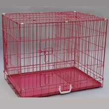 foldable Metal Dog Crate with Divider and three doors pet cage manufacturer