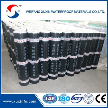 Black color 4mm APP asphalt waterproof membrane
