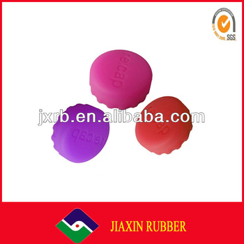 Colorful customized silicone rubber bottle cap
