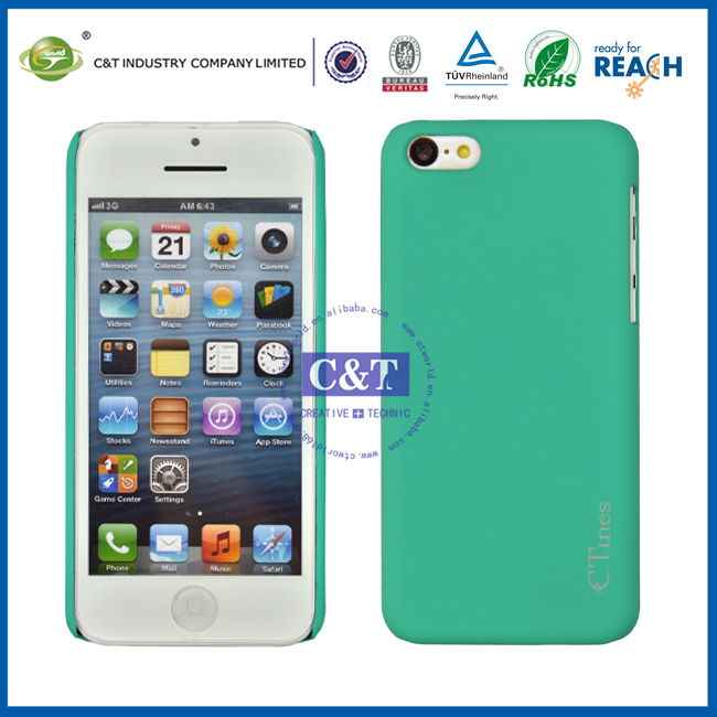 C&T 2013 New candy color hard skin for case iphone 5c