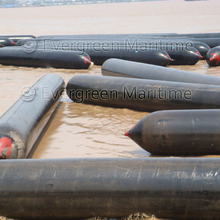 1.5 m x 20 m long high bearing pneumatic rubber marine airbags for barge&vessel pull for refit and repair