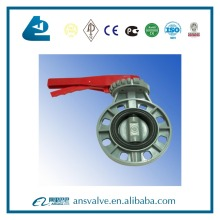 hot sale long hand lever operated pvc butterfly valve with drawing