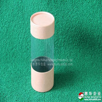 Paper lid cosmetic packaging round plastic can