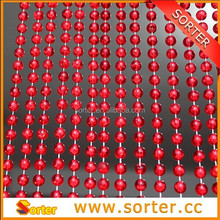modern fashion rec color plastic bead curtain for room divider