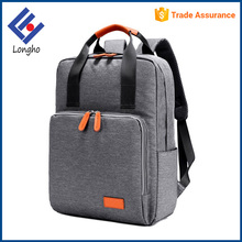 Multifunction new fashion school bags for teenagers, PU leather wrapped handle washable eminent backpack laptop bag