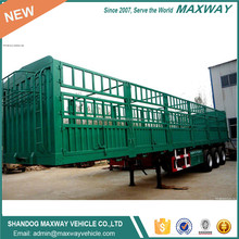 New 3 axle cargo transport fence truck trailer Sale Promotion