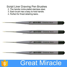 12 pcs fine control paint brushes set, script liner drawing pen brushes, artists brushes