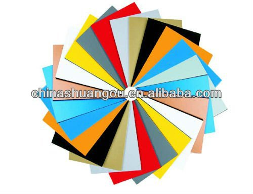 PVDF/PE coated aluminum composite panel