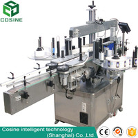 Fully Automatic double sides self adhesive sticker bottle labeling machine for water filling line