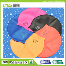 2017 Newest Design Kids Cartoon Swimcap Child Unique Animal Shape Silicone Cap