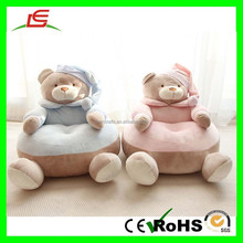 E277 Pink & Blue 58cm Bear Stuffed Plush Animal Sofa Chair