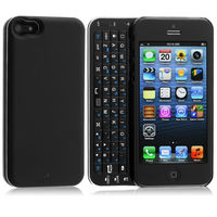 Ultra Thin Slide-out Bluetooth Wireless Keyboard Hard Shell Back Case For iPhone 5 KKB045