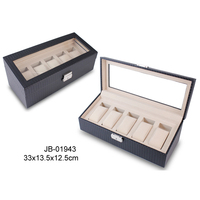 Hot Sale MDF Wooden PU Leather Packaing Watch Box With Cover