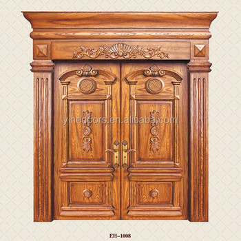 Teak Wood Plain Solid Wood Doors For Villa Buy Plain