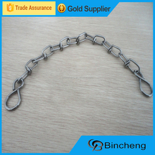 Galvanized knotted chain dog chain