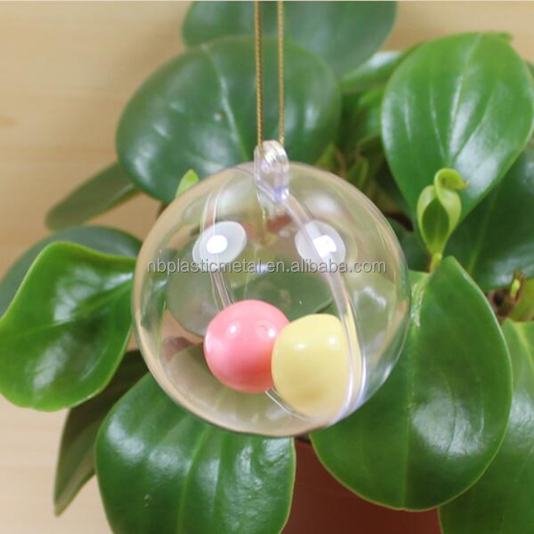 Wholesale cheap clear acrylic plastic ball container plastic and hollow wedding candy ball