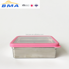 FDA/LFGB Stainless Steel Meal Container Lunch Box Camping Food Storage Reusable Sandwich Box