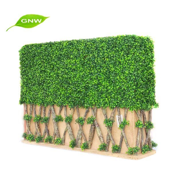 GNW BOX1028 Decorative Ornament Artificial Green Grass Hedge Fence for garden decoration