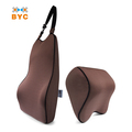 BYC 75D Memory Foam Car Neck Rest Pillow With Extendable Back Strap