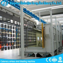 Continuous hanging chain shot blasting machine/overhead conveyor shot blasting system