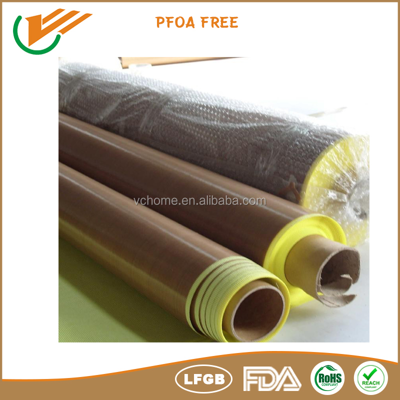 Water Activated Type PTFE Coated Surface Treatment PTFE coated fiberglass fabric with Adhesive