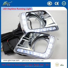 For Toyota Land Cruiser Prado 2013 - 2014 Long Lifespan High Power 12V 12W 6000K Waterproof Long Range DRL Daylights OEM