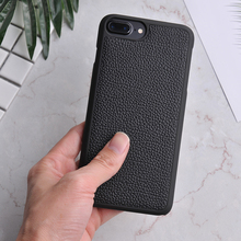 PC Rubber Coated Cow Neck Grain Genuine Leather Bulk Phone Cover For iphone Cases
