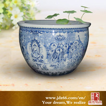 Jingdezhen decorative customized ceramic big fish tanks for sale