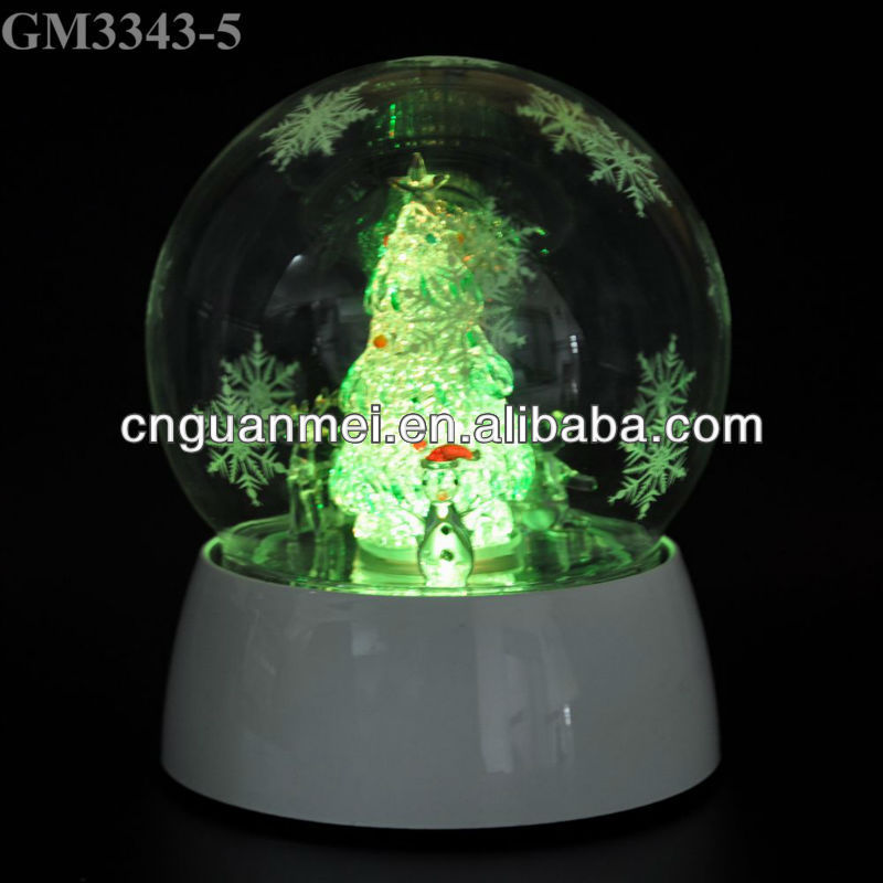 2013 hot sell christmas gift with led light and music box