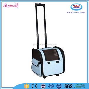 outdoor dog bag pet carrier in pet cage with wheels and Airline Approved
