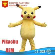 Alibaba China Oxeye Olhos Grandes Plush Yellow Pokemon Mascot Costume