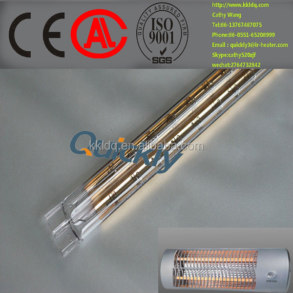 Infrared Heater Electric Heater parts and Quartz halogen heater lamp 2kw
