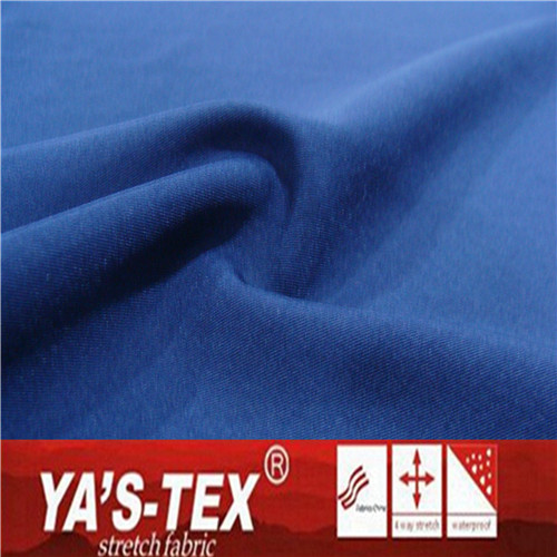 100D 4 way stretch twill waterproof textile 90% polyester 10% spandex fabric