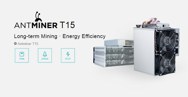 2018 Bitmain Long-term Mining Energy Efficiency 7nm 1541W Antminer T15 23TH/S Bitcoin Miner