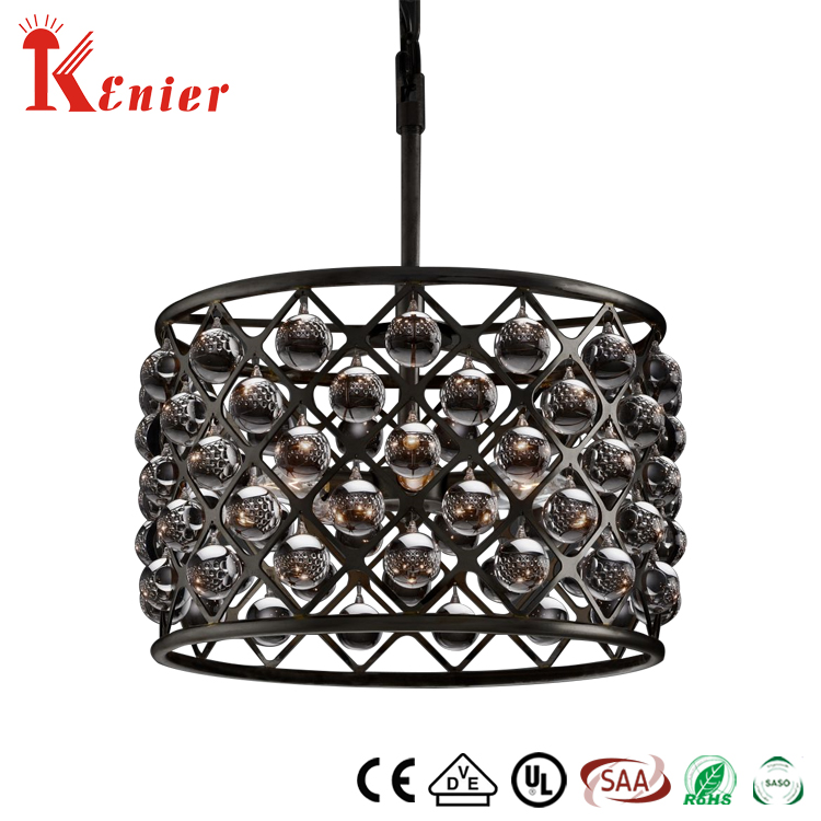 Hot Sale Factory Direct Price Crystal Ball In Black Modern Stairs Glass Pendant Lighting Glass Shape Chandelier