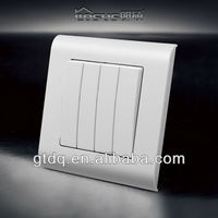 2013 SASO CE certified Dubai 4 gang 1 way light switch, A6007