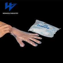Qualities product disposable plastic pe gloves for food manufactures china