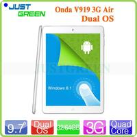 2015 New products! Onda V919 3G Air 9.7inch Multi-touch Quad Core 64GB Pad Dual OS Win8+android 4.4 BT 4.0