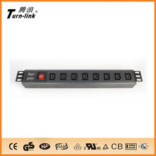 "19""IEC C13 type 8 outlets PDU for network cabinet"