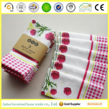 100% cotton kitchen towel set