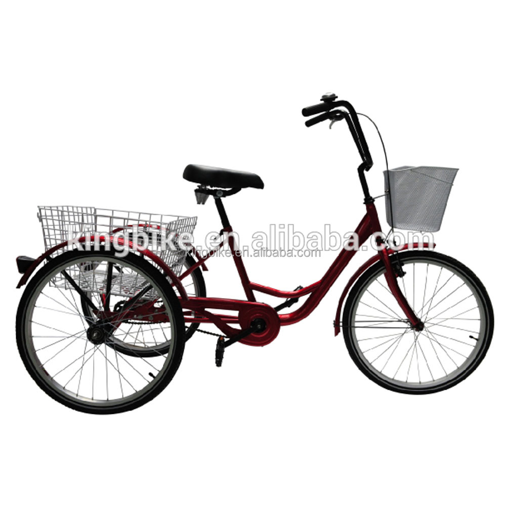 three wheel bike adult tricycle made in china with basket cargo bike KB-COB-W21