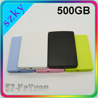 Support OEM Colorful Plastic Case Laptop External Portable Hard Drive 500GB