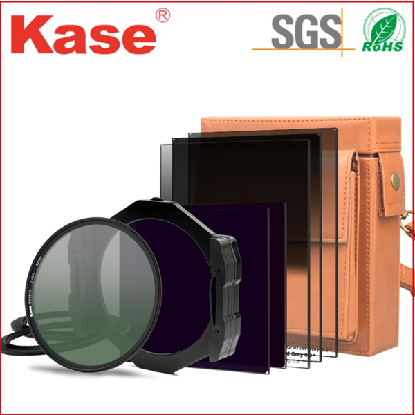 Kase camera lens filter graduated square grey filter and holder system, adapter ring,step ring