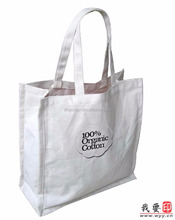 good quality custom screen print eco canvas rope handle tote bag,durable trendy cotton shopping bag
