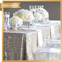 Fashion Design JENNY BRIDAL Knitted Silver Glitter Table Cloth