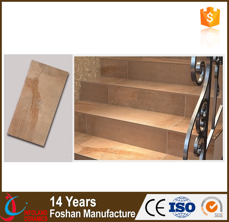 Hot selling step ceramic tile matt finish stair tile for floor step