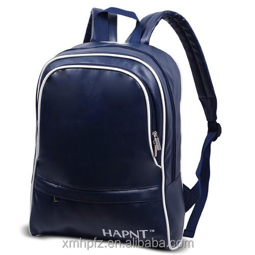 custom leather laptop school college backpack manufacturers china 2016