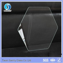 3mm/4mm/5mm tempered / ultra clear float /decorative/irregular shape glass covers for lightings