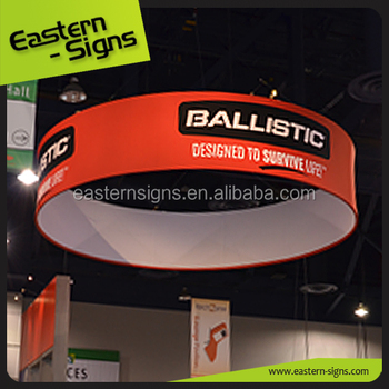 Trade Show Booth Advertising Circle Hanging Banner